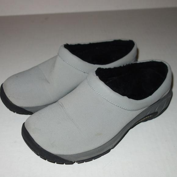 e26f665e53 Merrell Damson Mule Shoes Women 6 Gray Canvas